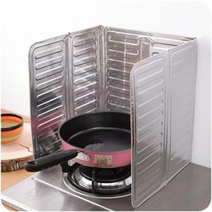 Aceite de pared Splash Guard Papel de aluminio Estufa de gas Pantalla de salpicadura de aceite de escudo Herramienta de cocina Cocinar Insular Deflector de salpicaduras