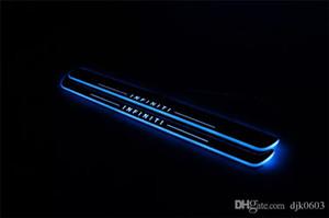 Su geçirmez Akrilik Hareketli LED Hoşgeldiniz Pedalı Araba Itişme Plaka Pedalı Kapı Eşiği Infiniti QX50 2013 2014 2015