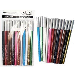 MENOW High Quality 12 Colors Waterproof Eyeliner Pencil Long lasting Makeup Eyebrow Beauty Pen Eye Liner Cosmetic Tools P123