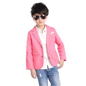 2018 New Kids Boys Blazer Boda de algodón Formal Blazer Casual Niños Solid Brand Party Outwear Chaqueta de los niños