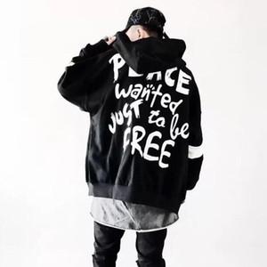 Tide бренд негабаритных балахон для мужчин мода хип-хоп свободные плюс размер балахон для женщин мужчины уличная одежда мужчины балахон бесплатная доставка