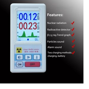 Counter Nuclear Radiation Detector 전자기파 베타 감마선 X 선 레이 선량계 디스플레이 스크린이있는 개인 선량계