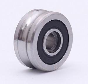 10PCS SG66 2RS U 풀리 홈 볼 베어링 (6) * 22 * 10mm R3U 트랙 가이드 롤러 베어링 (정밀 복열 볼) -5- ABEC
