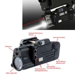 Tactical CNC finito Sbal-PL LED luce con luce rossa Pistol Pistol Rifle Torcia Light Light Costante Momentaio Strobe Torcia