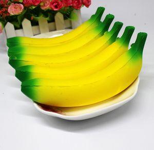 10 cm 18 cm Jumbo Squishy Juguetes Plátano Levantamiento Lento Teléfono Móvil Encantos Colgante Kawaii Lindo Estrés Aliviar Aprieta Pan Niños Juguetes de regalo
