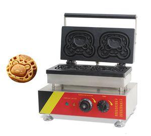 BEIJAMEI Gewerbe Cartoon Bär Waffeleisen Kuchen-Hersteller-Maschine 220V 110V Elektro-Bär Waffel Muffin-Maschine