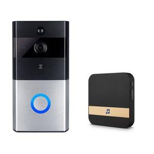 Daireler IR Alarm Kablosuz Güvenlik Kamera İçin Akıllı IP Video İnterkom WIFI Görüntülü Kapı Telefonu Kapı Bell WIFI Kapı zili Kamera