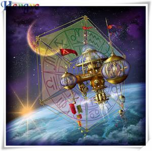 5D Diamante ricamo scenario stella barca fai da te pittura diamante kit punto croce in resina completa squareround diamante mosaico home decor regalo AA0415