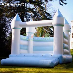 تصميم اليسار نفخ الحارس الزفاف الأبيض ، القفز منزل الترامبولين القلعة كشك خيمة تأجير ل weddingparty