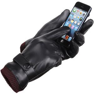 2019 Winter-Bester Verkauf der Männer und Frauen Winter verdicken Waschbar Schwarz Touchscreen Leyo Leder Fahren Handschuhe