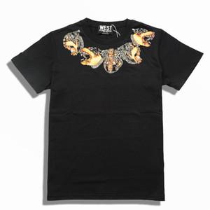 2018 nuovo marchio di moda di fascia alta in cotone girocollo manica corta da uomo t shirt da uomo scollo casual stampa collana T-shirt