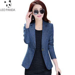 Blazer da donna 2018 Blazer Slim a maniche lunghe Mujer Office Suit Donna Giacca da donna Blazer Cappotto Feminino Chaquetas LXT385