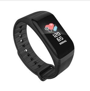 F601 inteligente pulseira pulseira inteligente IP67 impermeável sono Heart Rate Rastreador de pulso de pressão arterial Medidor Passometer
