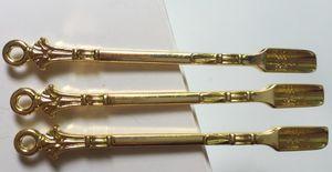 New Golden Dabber Dab cera strumento Secco Erbe vaporizzatore strumento Dab Rigs cucchiaio di metallo Usa per Sniffer Pippotto HOOVER HOOTEER Snuff Accessori fumatori