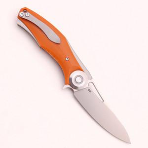 الأخضر شوكة الظلام زعنفة الطي سكين d2 بليد g10 + التيتانيوم مقبض بقاء الصيد التنزه التخييم أدوات الفاكهة سكين جيب edc