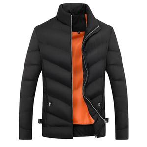 ISHOWTIENDA мужские зимние куртки 2018 куртка мужчины повседневная стенд шеи пиджаки зимнее пальто Мужская одежда манто Весте Homme Hiver