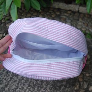 Piccolo Lot Blanks seersucker zaino all'ingrosso scuola sacchetto della maglia con tasche laterali bottiglia può essere ricamo con trasporto libero RB187
