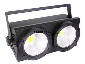 Warm White Cool White 2in1 led light blinder per palcoscenici 2 occhi 2x100W COB LED Studio Audience Light