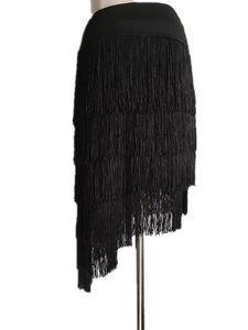 Female Adult Practice Latin Dance Skirt New Professional Tassel Half Skirt Latin Group Art Examination Training Half Skirts