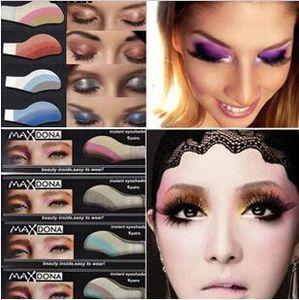 Wholesale-1box = 6 pares etiqueta engomada Instantánea sombra de ojos, ojos mágicos tatuaje, maquillaje cosmético sombra de ojos adhesivo fácil de usar 42 diferentes estilos