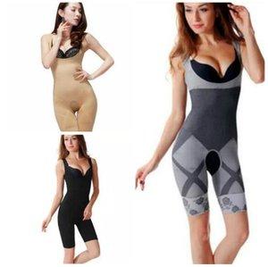 Al por mayor-Nuevas Mujeres Señoras de Bambú de Carbón Micro-Fibra Shaper Adelgazamiento Completo Corsé Tummy Trimmer Body Suit Ropa Interior Fajas 320