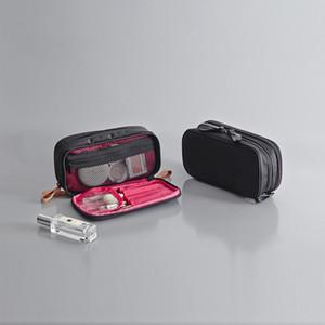 Grande capacidade portátil duplo zíper saco macio feminino trombetas portáteis transportar saco de lavagem dupla.