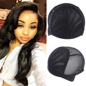Weaving Wig Cap Adjustable Straps for Making Wigs Lace Mesh Stretchy Net Black 1Pcs SASSY GIRL