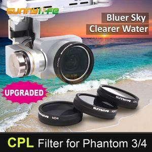 1 pc Sunnylife CPL Filtro Filtro Polarizador Circular para DJI Fantasma 4 Fantasma 3 Profissional Padrão Avançado