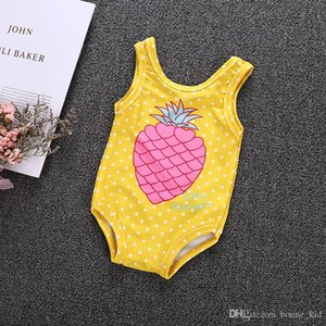 Summer Kids Baby Girl Pineapple Yellow One-Pieces Swimsuit Dot Swimsuit Bathing Suit Kid Girls Clothing Beach Swimming Boutique