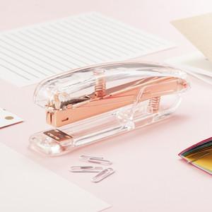Pinzatrice in oro rosa Edizione in metallo Cucitrici manuali 24/6 26/6 Include 100 Accessori per ufficio Accessori per la scuola