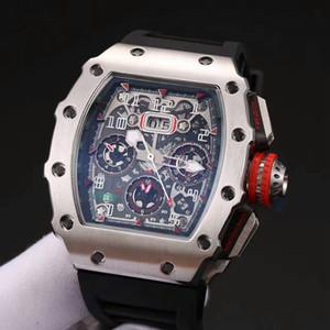 Heiße Marken-Uhr-43MM Automatik-Uhrwerk Titanium Carbon 904L Edelstahl Mineral gehärtetes Glas 11-03 (Silber Fall) Herren-Uhr