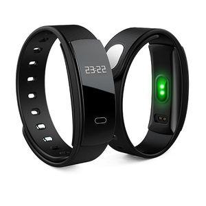 2018 QS80 Smart Armband wasserdicht BT Smart Armband Pulsmesser Fitness Tracker Armband mit Schlaf-Monitor