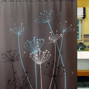 Novo Dandelion Cortinas de Chuveiro À Prova D 'Água Mildew Tecido de Poliéster Resistente Cortinas Do Banheiro Casa Decoração Do Banho Com Ganchos 180 * 180 cm WX9-434