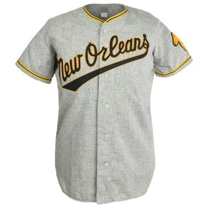Pelicans 1955 Road Jersey 100% Stitched Embroidery Vintage Baseball Jerseys Custom Any Name Any Number Free Shipping