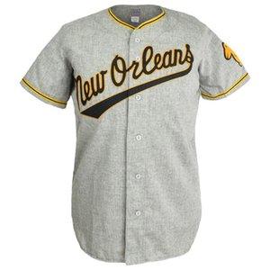 Pelícanos 1955 Carretera Jersey 100% camisetas de béisbol cosido bordado de la vendimia encargo cualquier Nombre Cualquier número libre