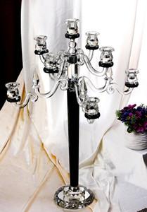 candelabro in cristallo nero a doppia funzione per decorazioni nuziali
