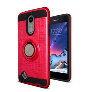 Für LG K51 Stylo 6 5 Aristo 5 Hybrid-Metallring-Kasten Stoß- Dual Layer Telefon-Abdeckung Samsung A01 A21 A11 Moto G Stift E7