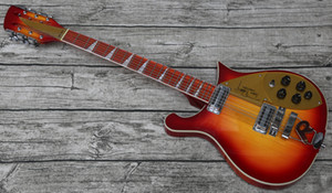 neue maßgeschneiderte 12 saiten gitarre durch body ric 660 kirschrot sunburst tom petty eletric gitarre