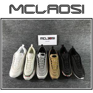 MCLAOSI VENDA MELHOR novo corredor 97, cristiano ronaldo ouro metálico e prata bala running shoes com homens calçados esportivos, qualidade superior A11