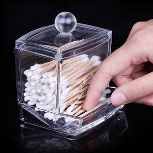 Transparent Cotton Swab-Kasten-Organisator löschen Schmuck-Speicher-Fall-Halter-Make-up-Pads Aufbewahrungsboxen Container