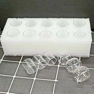 Tubo de vidrio transparente Ecig para Aspire Pockex Starter Kit atomizadores de tanque de 2 ml Bombilla Fat Boy Convex E extendido cig Pyrex Glass embalaje de espuma