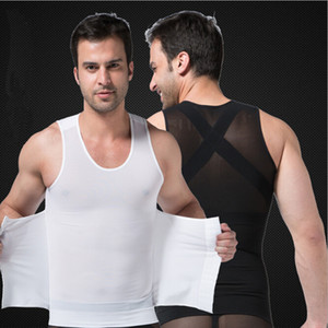 Männer Fitness Weste Taille Bauch Mesh Stoff Body Shapers Mann Body Shaper Tops