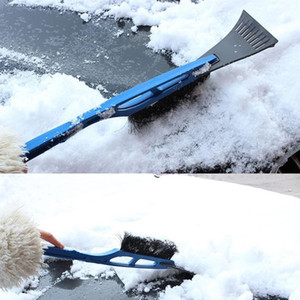 2-in-1 Car Ice Scraper Snow Remover Shovel Brush Window Windscreen Windshield Deicing Cleaning Scraping Tool