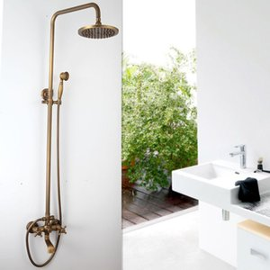 FreeShipping NOVO bronze antigo Chuvas Set torneira + banheira Mixer Tap + Handheld Shower Wall Mounted GZ-6005