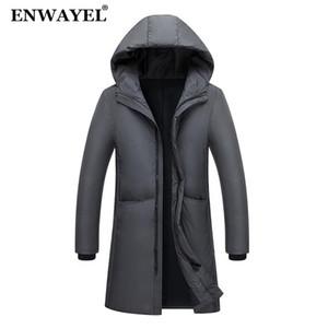 ENWAYEL Autumn Winter Warm Jacket Men Jackets Coat Hooded X-Long Male Coat Korean Casual Outwear Parkas EW130