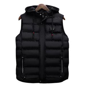 FGKKS Männer Art und Weise Marke Weste-Winter-Männer Marke Weste Männliche beiläufige Baumwolle gefütterte Weste Sleeveless Jacken-Mantel-Warm