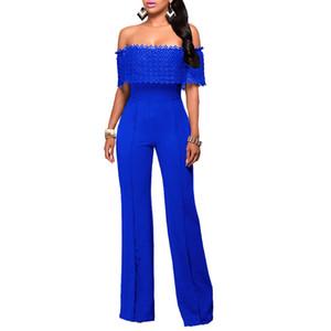 어깨에서 벗어난 새로운 패션 EleJumpsuit Women 레이스 Bodycon 바디 수트 복장 여성 Jumpsuits 여성 Overalls 여름 2018