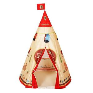 Play House Крытый Природный Индийский Шаблон Унисекс Детская Игрушка Палатка Ткань Типи Безопасность Портативный Крытый Отдых На Природе Game Playhouse