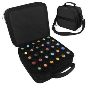 3 Цвет 42 Boles Эфирное масло для переноски черный корпус макияж сумка для хранения для путешествий Прочный двойной молнии Косметический мешок