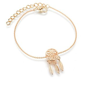 Popular catch dream net series copper casting delicate texture hollow feather bracelet for woman free shipping